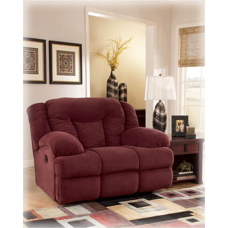 6330052 Ashley Furniture Tundra - Burgundy 0 Wall Recliner W/ Wide Seat