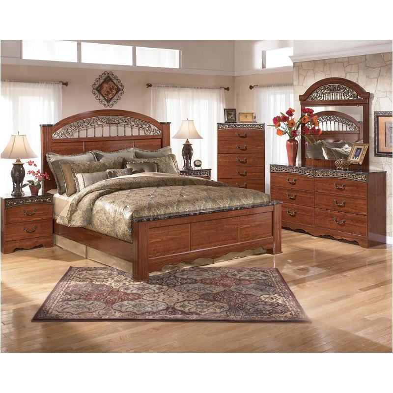 B105 68 Ashley Furniture King Poster Bed
