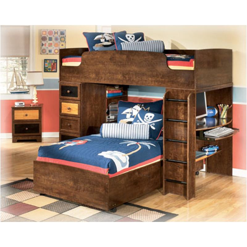 B161 68b Ashley Furniture Twin Hi Loft Lower Bed W Casters