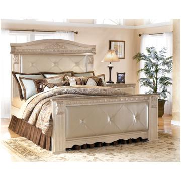 B174 57 Ashley Furniture Queen Upholstered Mansion Bed