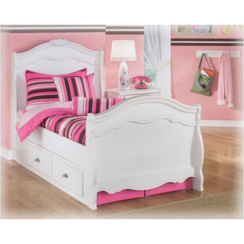 B188 60 Ashley Furniture Exquisite White Under Bed Storage