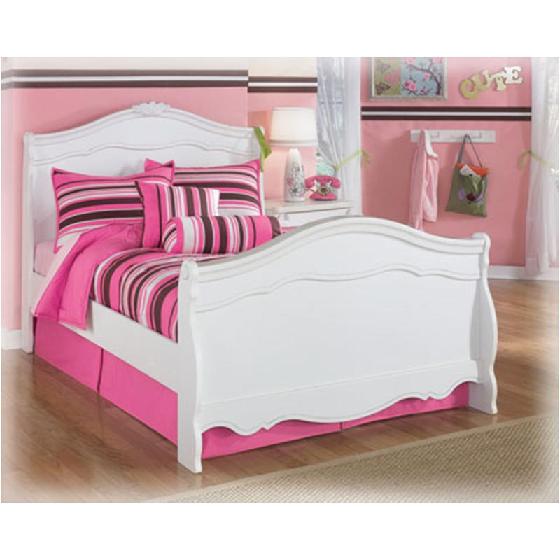 B188 87n Ashley Furniture Exquisite White Full Sleigh Bed