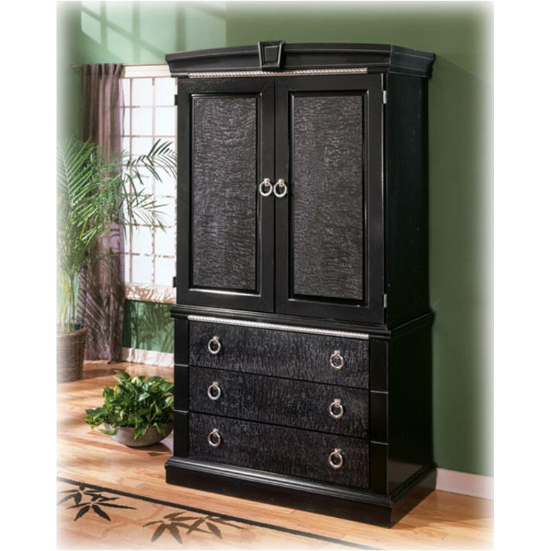 B313-49b Ashley Furniture South Haven Armoire Base Black