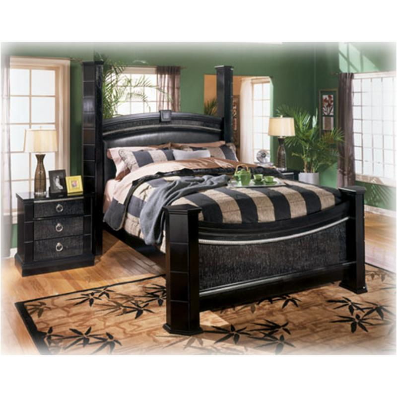 B313-98 Ashley Furniture South Haven Queen Poster Rails Black