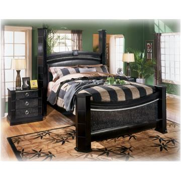b313 98 ashley furniture south haven queen poster rails black