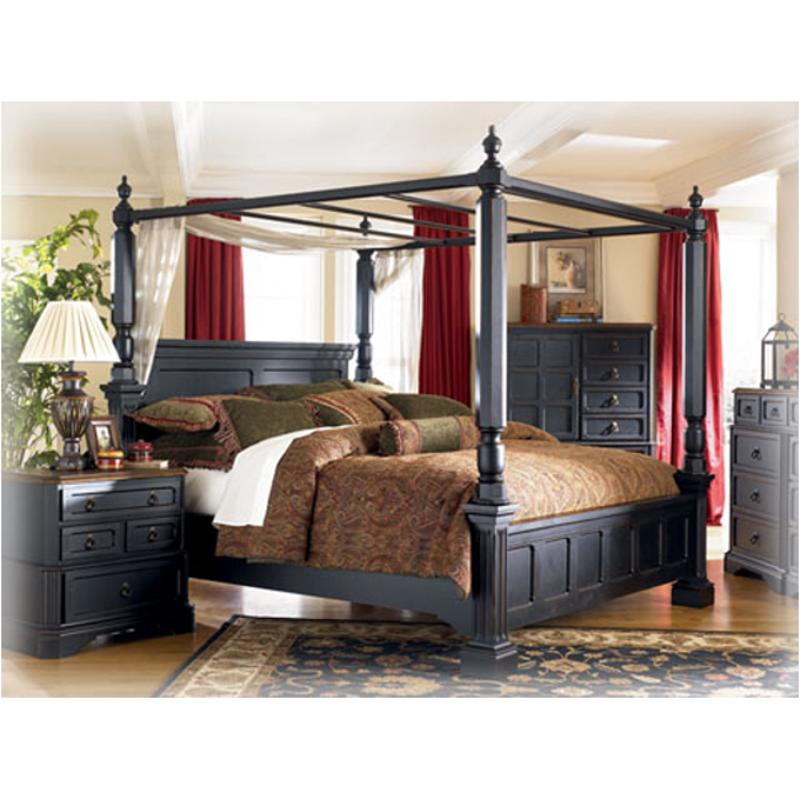B534 52 Ashley Furniture Rowley Creek Bedroom Bed Queen Canopy