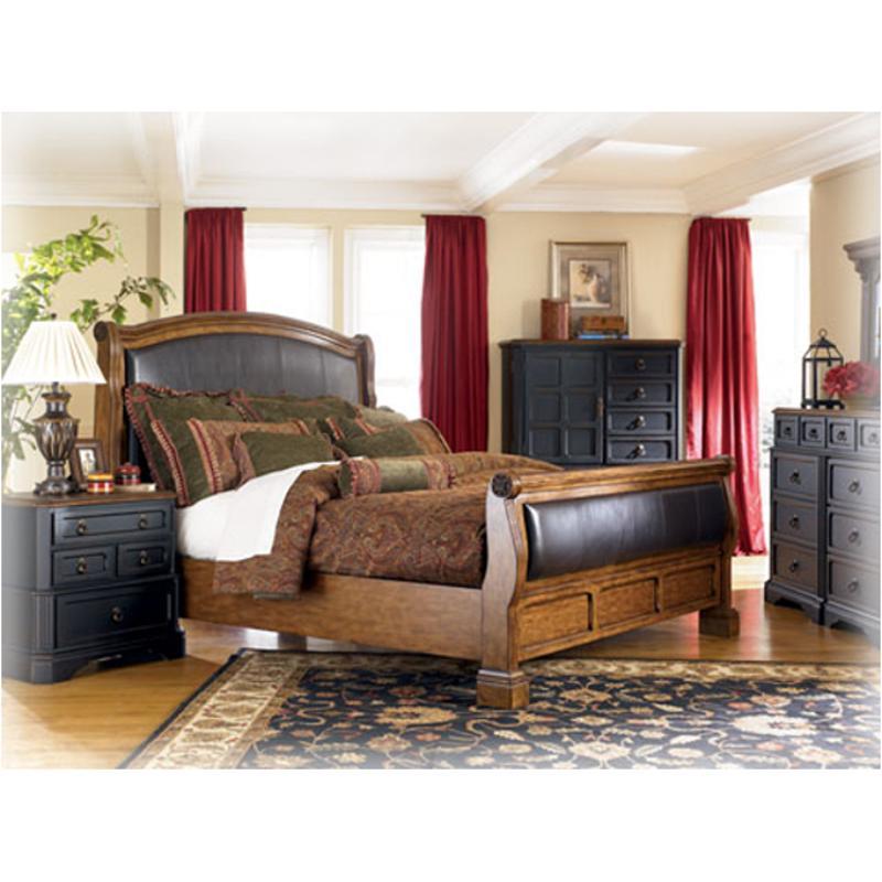 B534 88 Ashley Furniture Rowley Creek Bedroom King Sleigh
