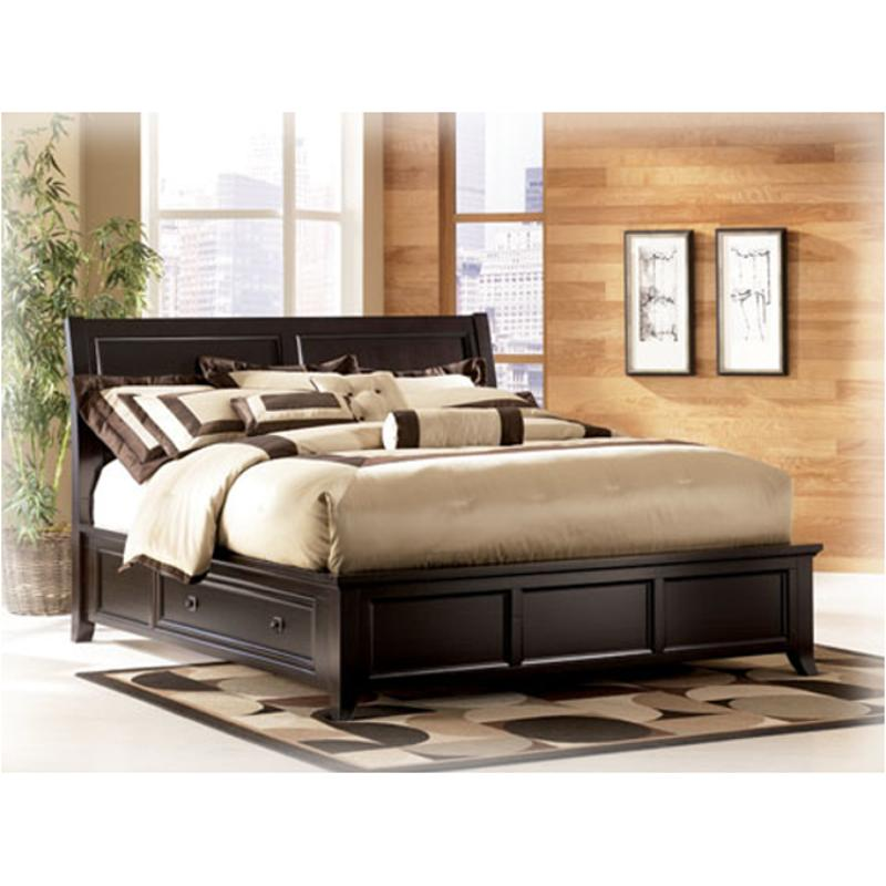b551 77 ashley furniture queen platform bed with storage. Black Bedroom Furniture Sets. Home Design Ideas