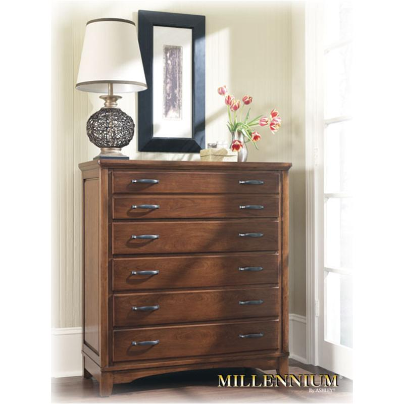 b629-46 ashley furniture irwin bedroom chest cherry stain finish
