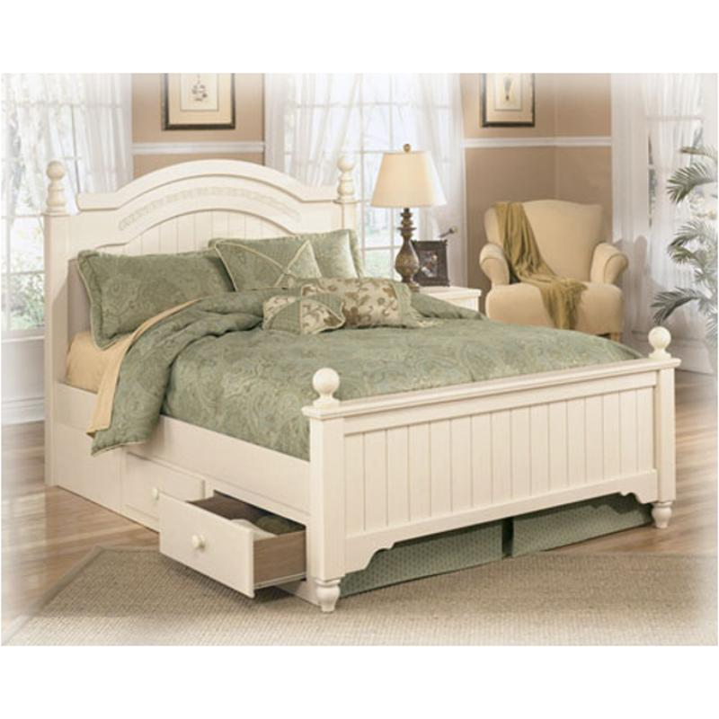 B213 70 ashley furniture cottage retreat under bed storage Cottage retreat collection bedroom furniture