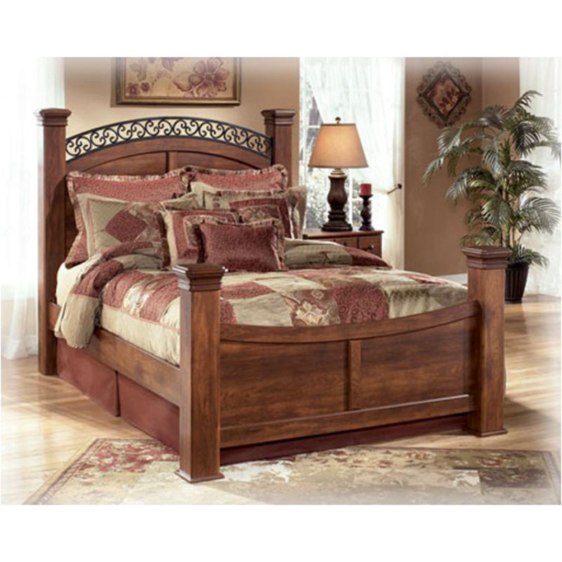 B258 98n Ashley Furniture Timberline Bedroom Queen Poster Rails