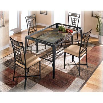 Brilliant Ashley Furniture Glass Dining Sets Calder Room Dinette With Inspiration Decorating