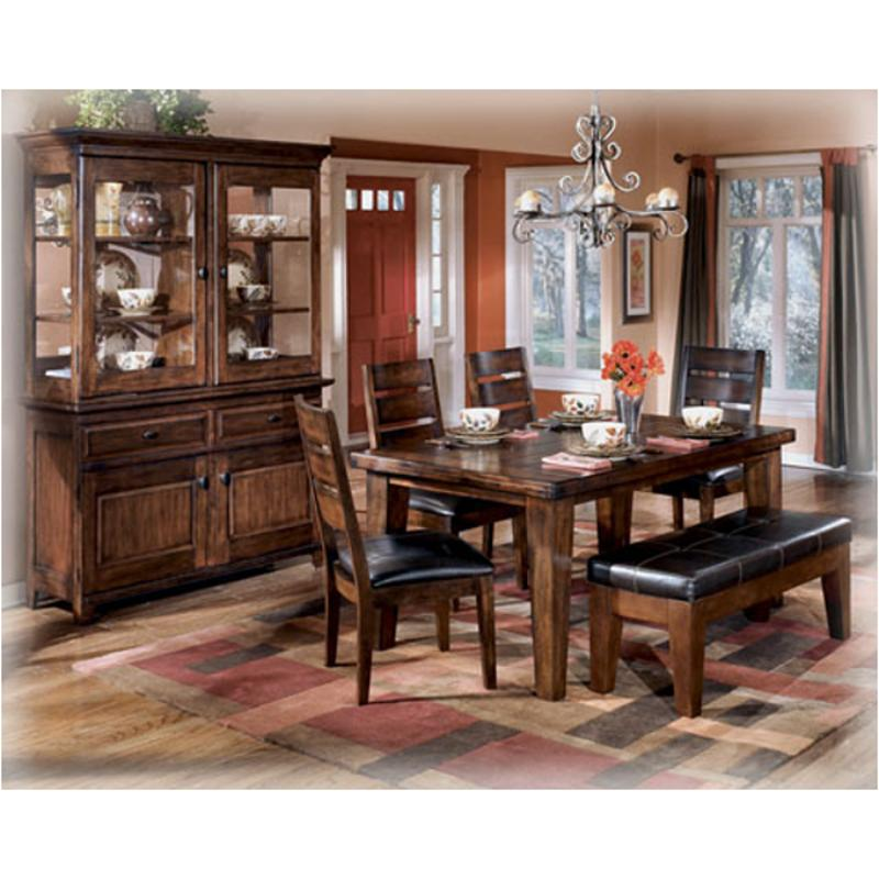 D442 25 Ashley Furniture Larchmont   Burnished Dark Brown Dining Room  Dinette Table Part 85