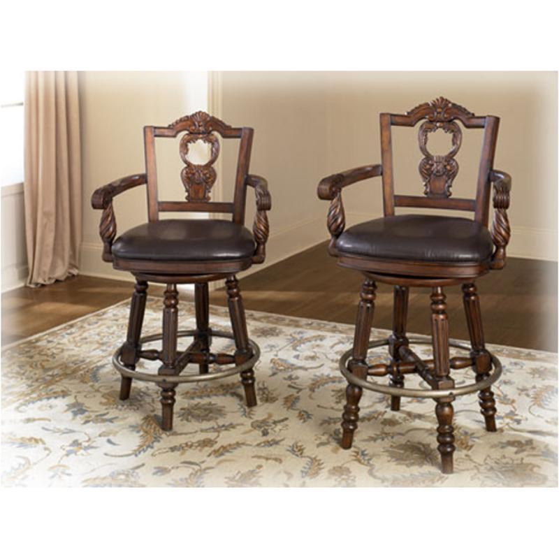 D553 124 ashley furniture upholstered swivel barstool for Furniture 124