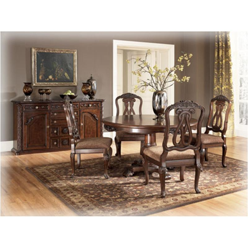D553 50t Ashley Furniture North S Dark Brown Dining Room Table