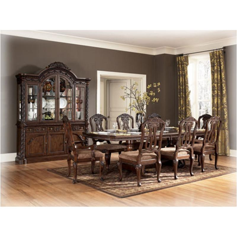 D553 55b Ashley Furniture North Shore Dark Brown Dining Table