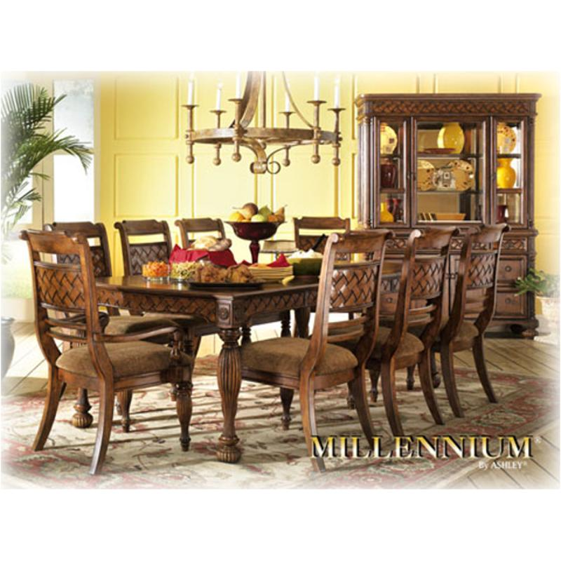 Ashley Furniture San Francisco: D598-35 Ashley Furniture Rect Ext Table Med Brown Fnsh
