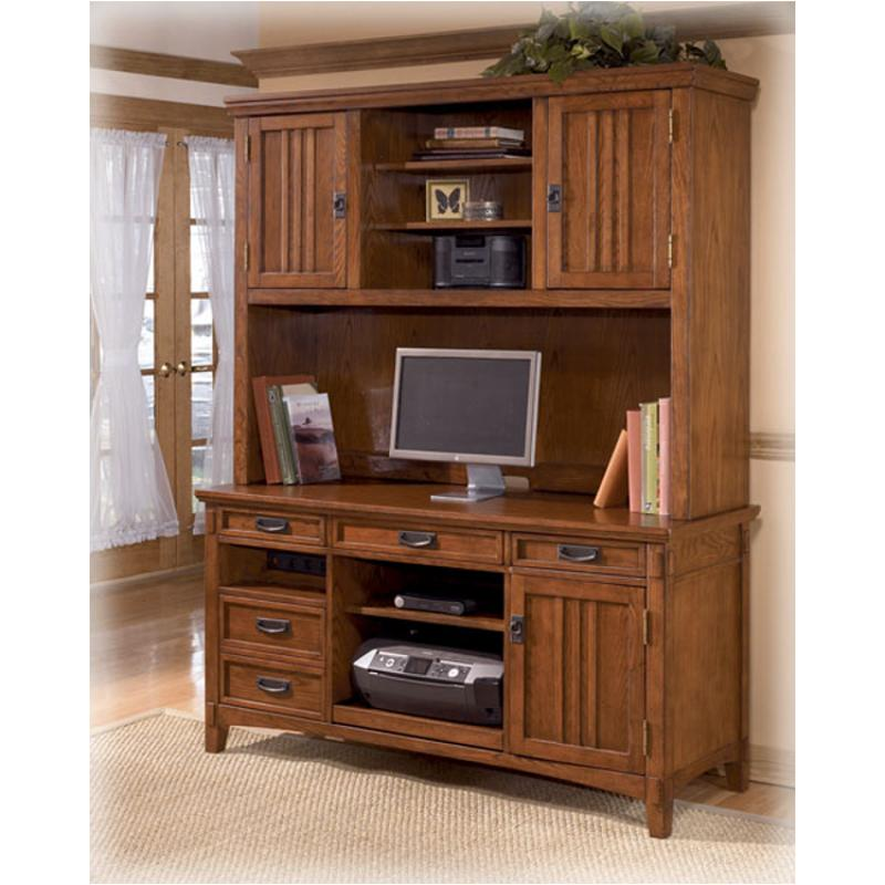 H319 49 Ashley Furniture Cross Island Um Brown Home Office Desk