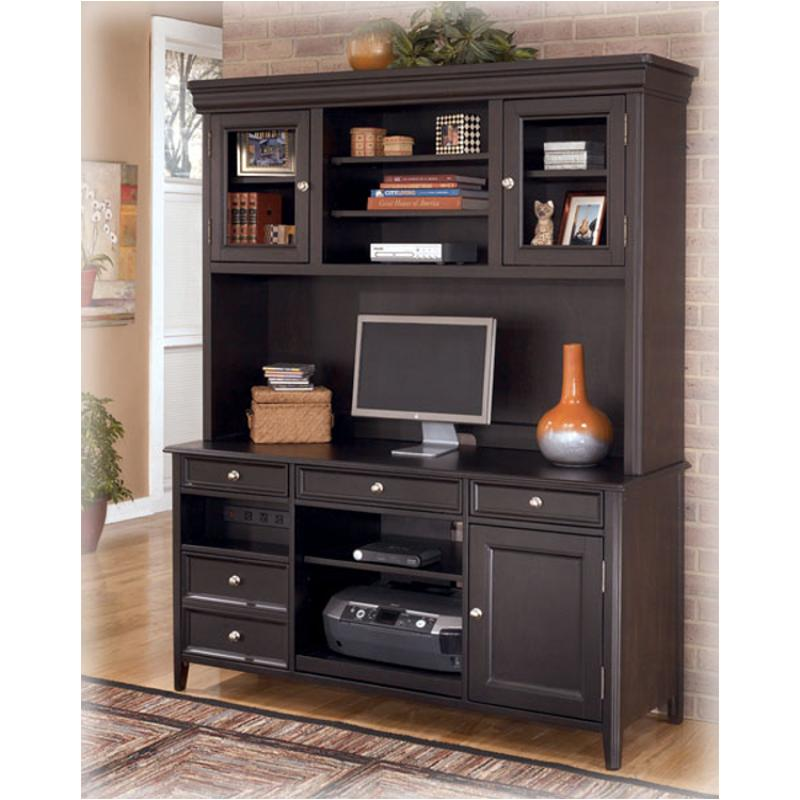 H371 49 Ashley Furniture Carlyle Black Home Office Desk