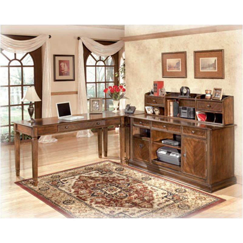 H527-48 Ashley Furniture Home Office Short Desk Hutch