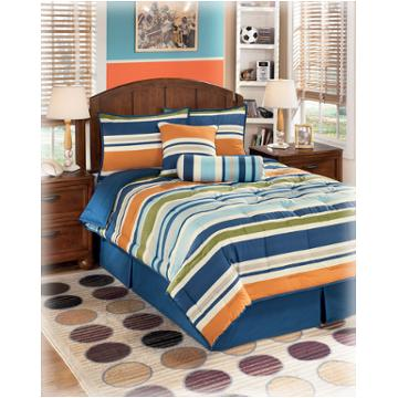 Q f Tyler Stripe Ashley Furniture Bedding 6 Piece