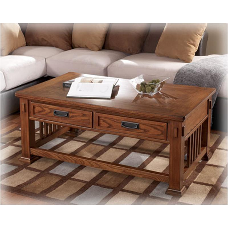 T419 1 Ashley Furniture Cross Island Living Room Tail Table