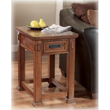 T419 3 ashley furniture cross island rectangular end table for Island living room furniture