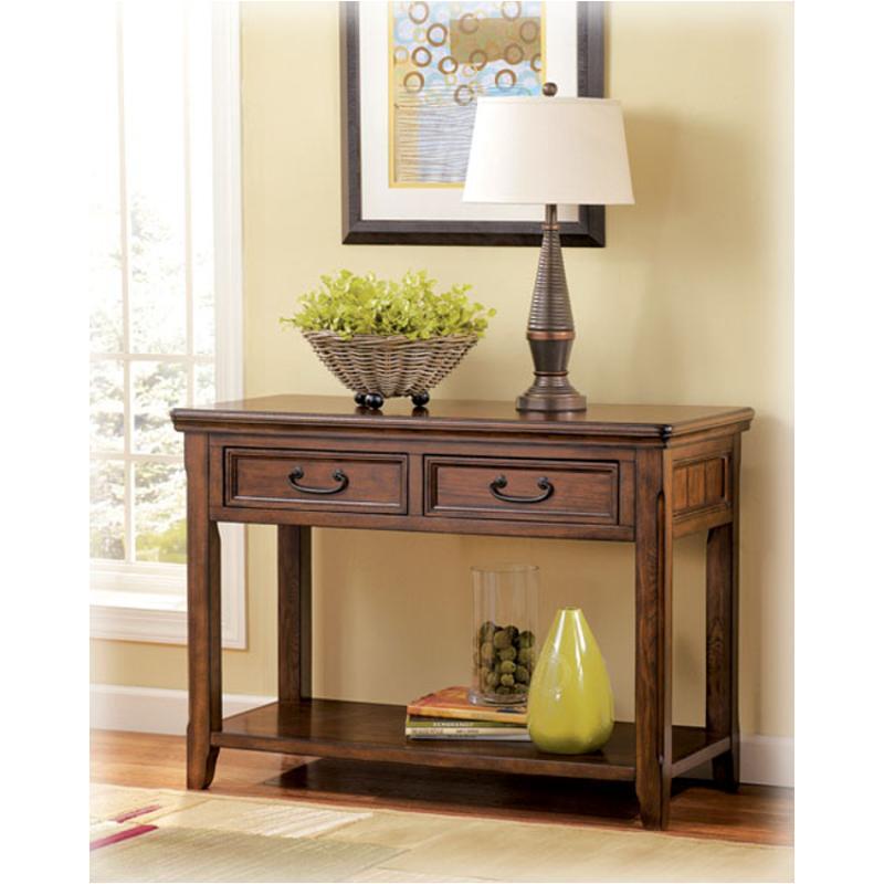 T478 4 Ashley Furniture Woodboro Dark Brown Finish Sofa Table