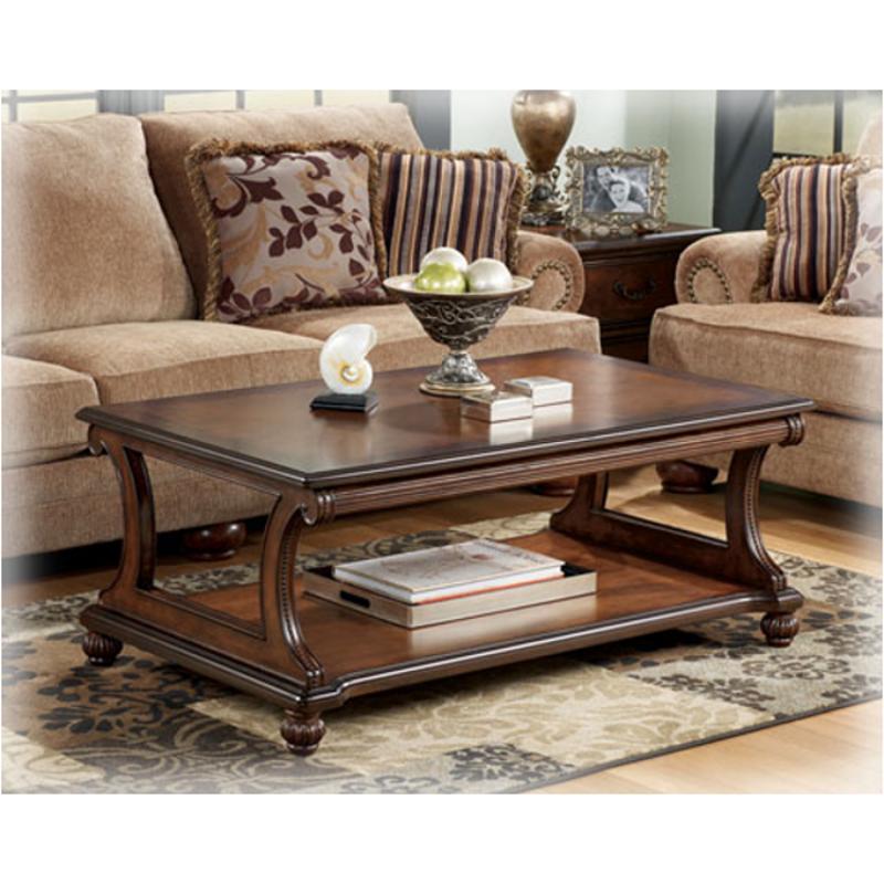 Superb T489 1 Ashley Furniture Shelton   Dark Brown Living Room Cocktail Table