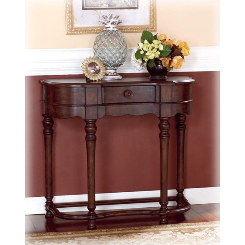 T496-4 Ashley Furniture Brookfield - Dark Brown Sofa Table