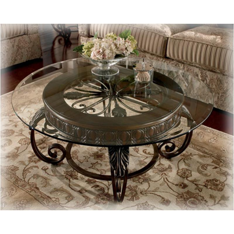 t399-8t ashley furniture tullio living room round cocktail table