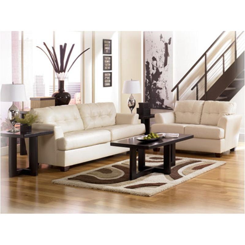 9460235 Ashley Furniture Durablend   Ivory Living Room Loveseat