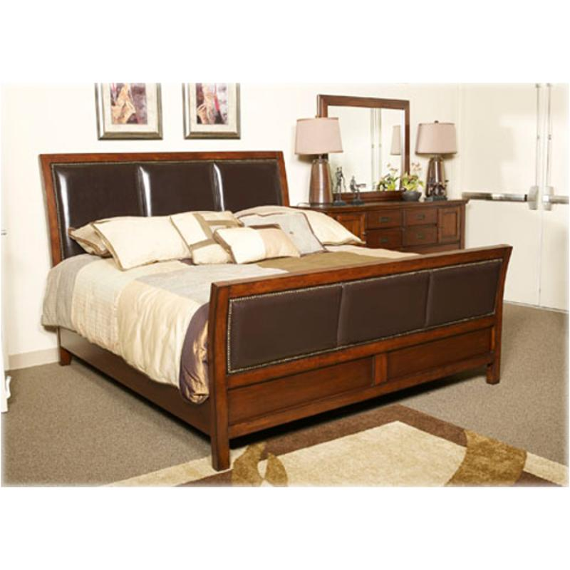 B660 98 Ashley Furniture Kendall Queen Sleigh Rails Brown Finish