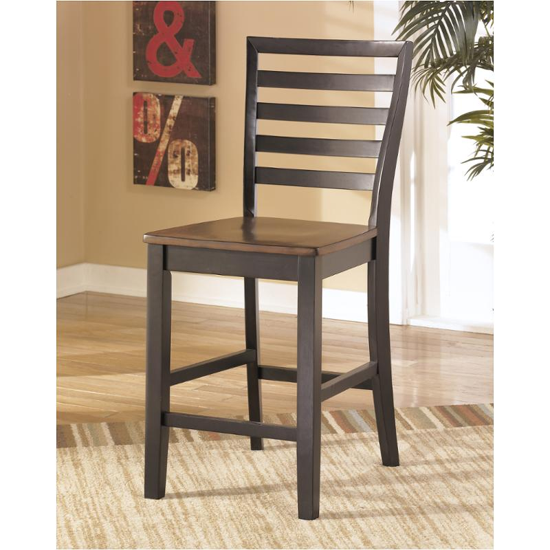 D367 124 ashley furniture alonzo two tone brown accent for Furniture 124
