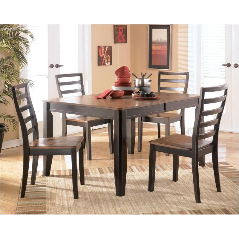 D367 35 Ashley Furniture Alonzo Two Tone Brown Dinette Table