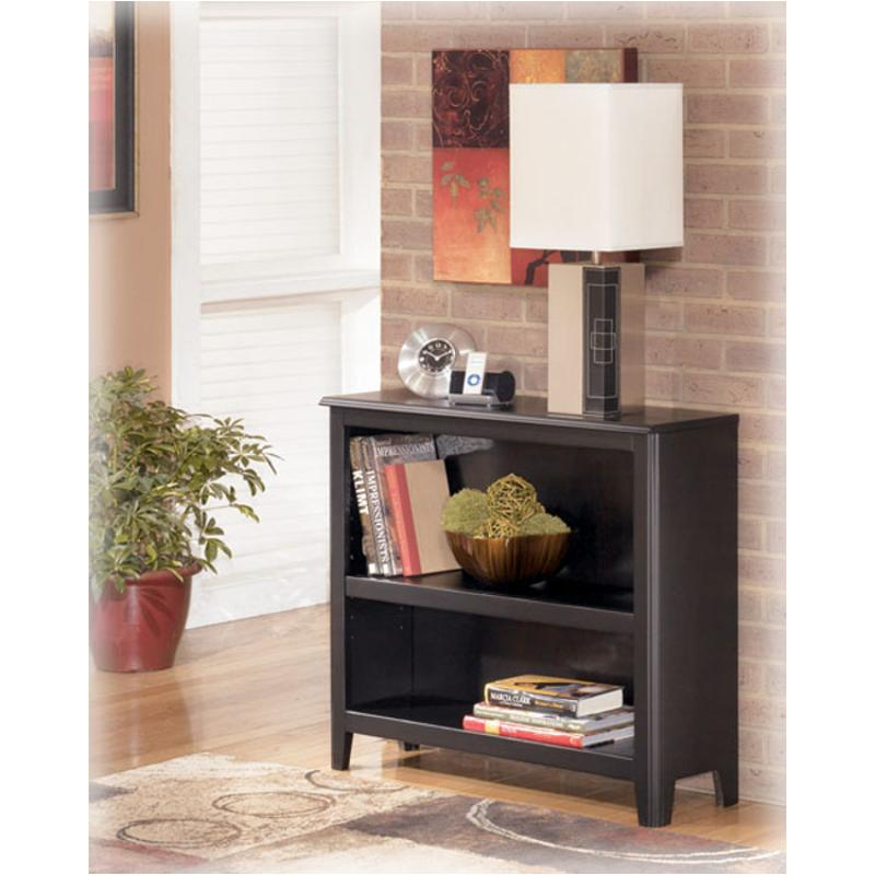 H371 15 Ashley Furniture Carlyle Black Home Office Bookcase