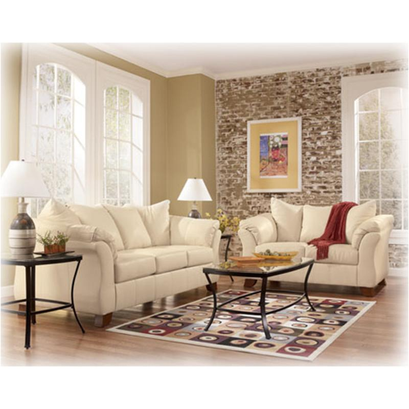 1500235 Ashley Furniture San Marco Durablend   Ivory Living Room Loveseat