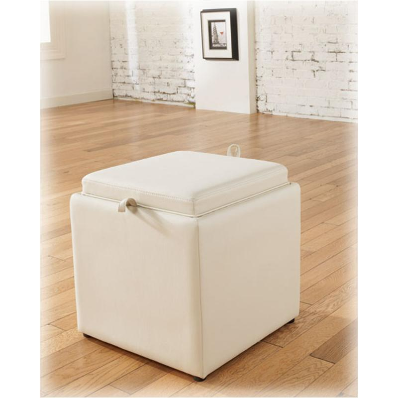 7740011 Ashley Furniture Cubit Ivory Living Room Ottoman