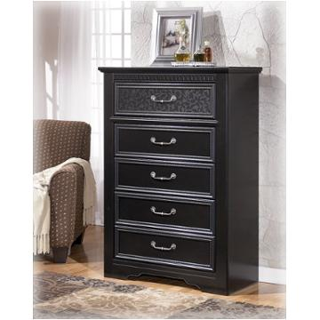 B291 46 Ashley Furniture Cavallino Black Bedroom Chest