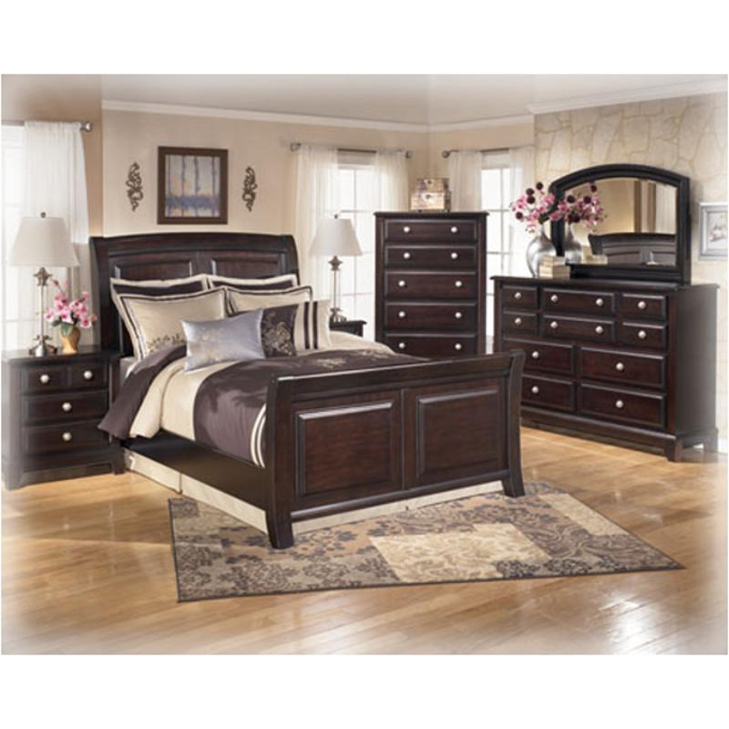 B520 93 Ashley Furniture Ridgley Dark Brown Bedroom Nightstand