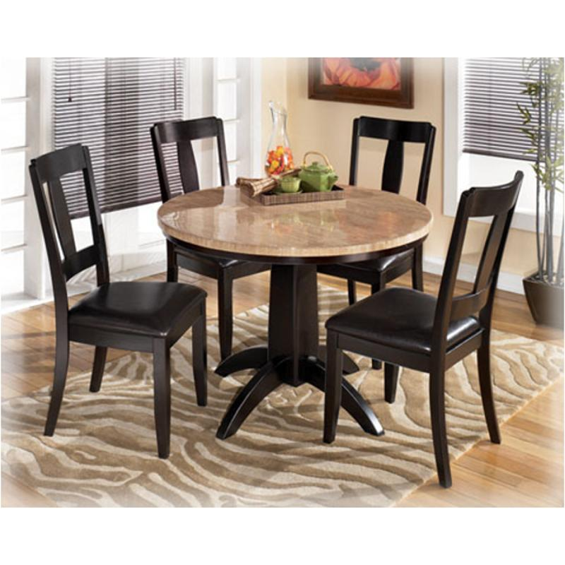 D451-225 Ashley Furniture Naomi Round Dining Table/4 Chairs
