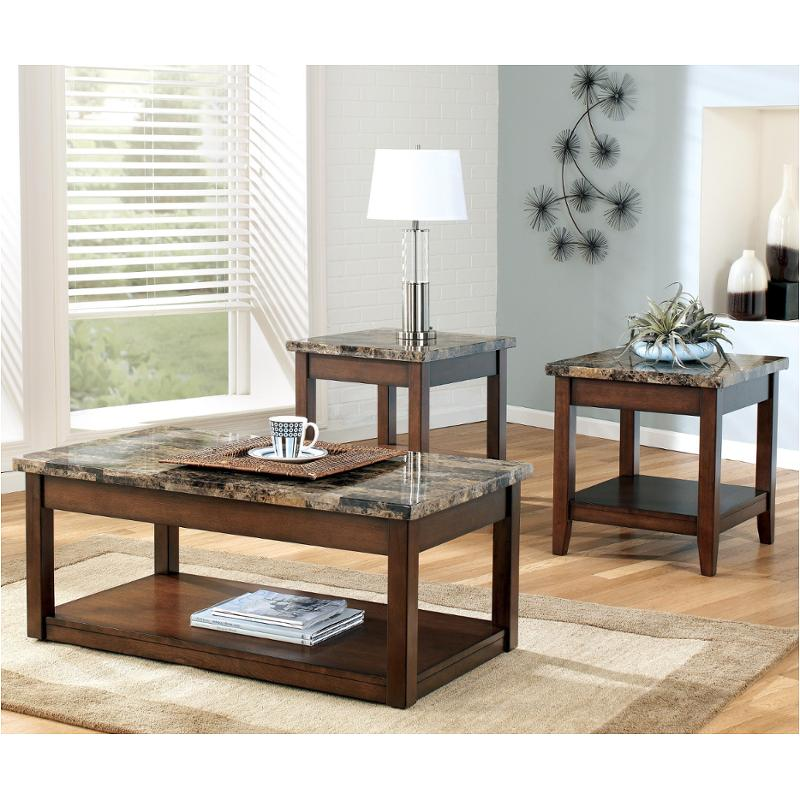 T858 13 Ashley Furniture Theo Living Room Occasional Table Set