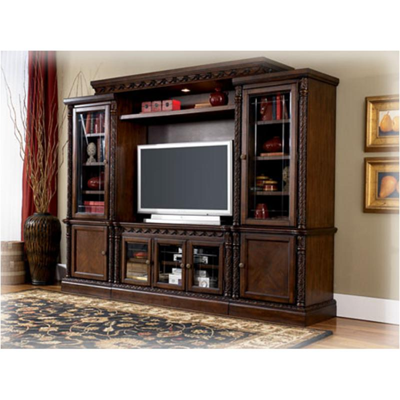 W553 33 Ashley Furniture North Shore Dark Brown Right Pier