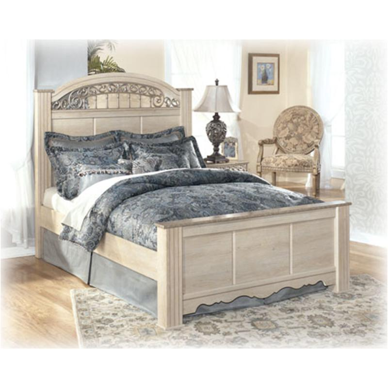 B196 67 Ashley Furniture Catalina Antique White Bedroom Bed