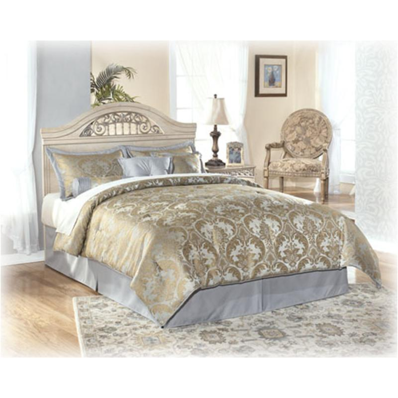 B196 57 Ashley Furniture Catalina   Antique White Bedroom Bed
