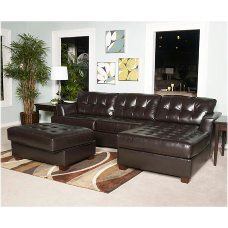 5240066 Ashley Furniture Dixon Durablend   Chocolate Living Room Sectional
