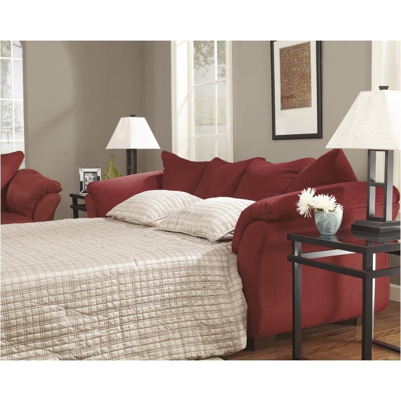 7500136 Ashley Furniture Darcy Salsa Full Sofa Sleeper