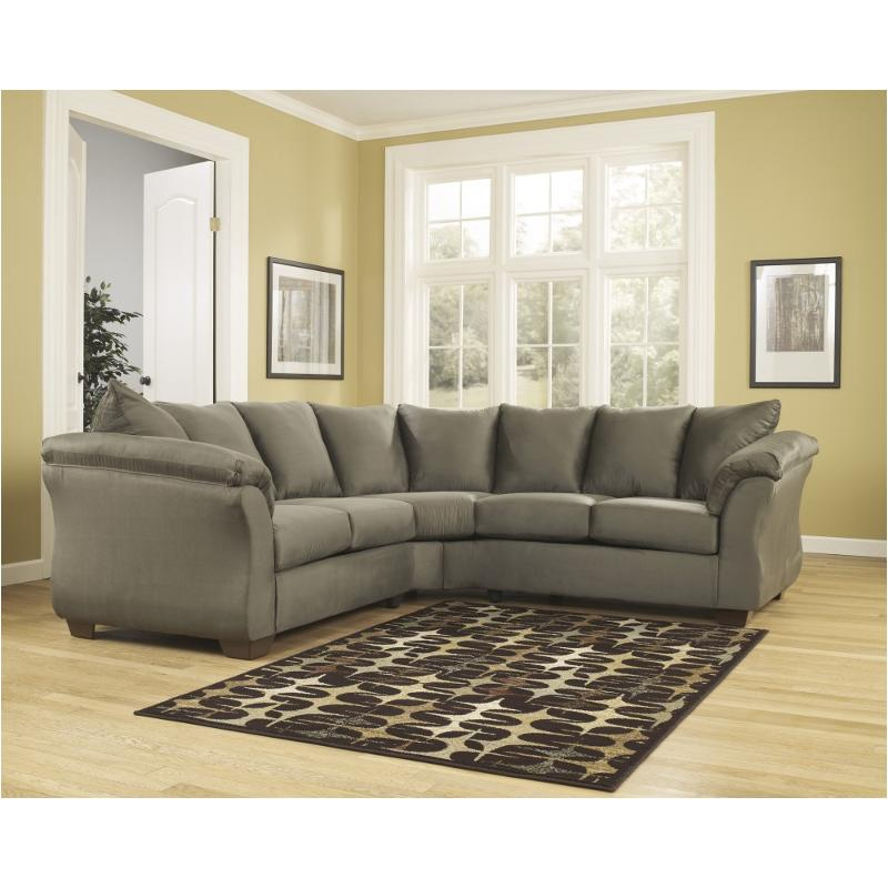 7500355 Ashley Furniture Darcy   Sage Living Room Sectional