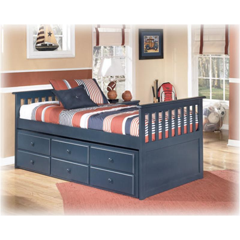 B103 53 Ashley Furniture Leo Blue Bedroom Twin Bed With Storage