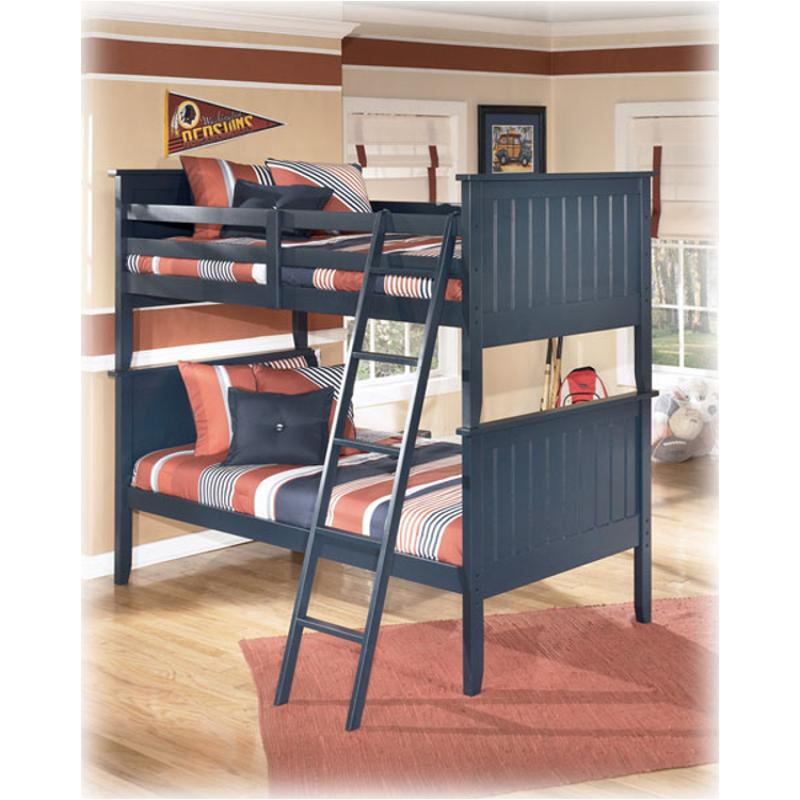 B103 59p Ashley Furniture Leo Blue Bedroom Twin Bunk Bed
